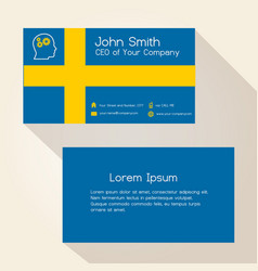 Sweden flag color business card design eps10 vector