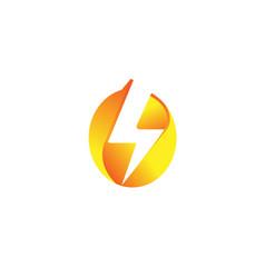 thunderbolt logo vector image