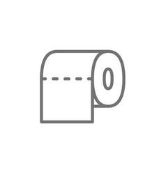 Toilet paper bathroom line icon vector