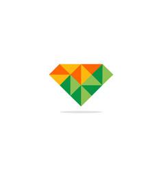 triangle diamond colored logo vector image