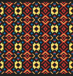 Tribal art ethnic seamless pattern aztec abstract vector