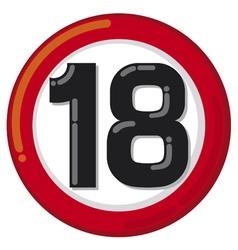 Under eighteen sign vector