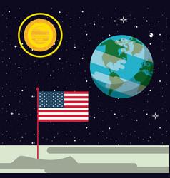 usa flag nailed vector image