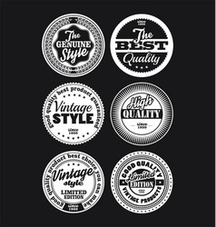 White and black vintage labels collection 3 vector