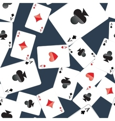Aces playing cards seamless pattern vector image