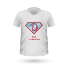 Dad superhero t-shirt front view isolated vector
