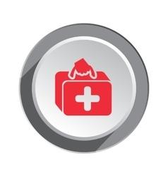 Medical bag ambulance icon Health and medicine vector image