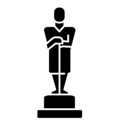 oscar - trophy icon black vector image