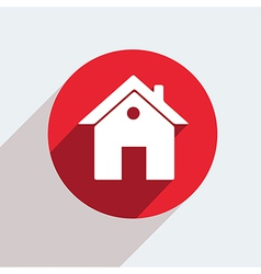 red circle icon on gray background Eps10 vector image vector image
