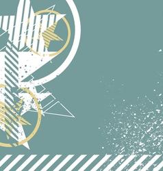 retro grunge star background vector image