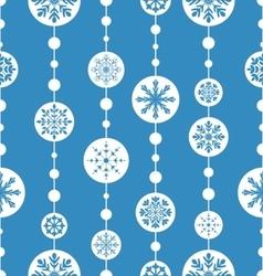 Seamless christmas pattern xmas ball toys vector image