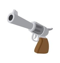 Gun cartoon icon vector image