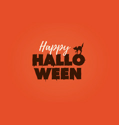 happy halloween text logo vector image