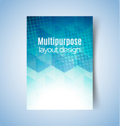 multipurpose layout design 2 vector image vector image