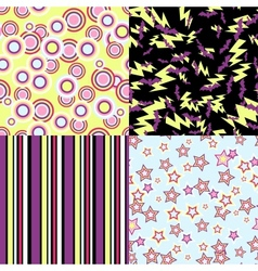 kawaii patterns of Halloween related objects vector image vector image