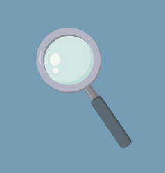 magnifying glass loupe school supplies zoom vector image
