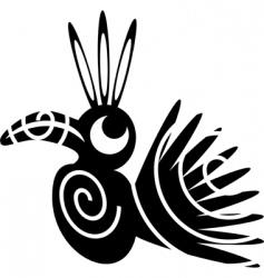bird abstract vector image vector image