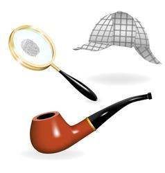 Detective set vector image vector image