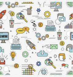 social media marketing pattern vector image vector image