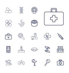 22 medicine icons vector