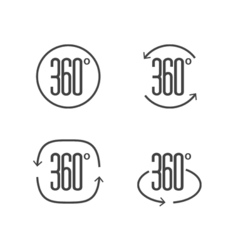 360 degrees view sign icon design symbol of vector image
