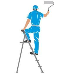 A man painting wall vector