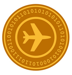 Airport digital coin vector