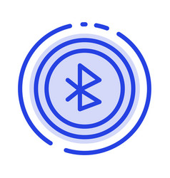Bluetooth ui user interface blue dotted line line vector
