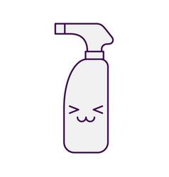 bottle with sprinkler kawaii character vector image