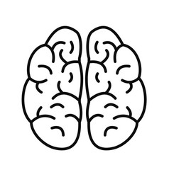 brain icon outline style vector image