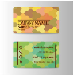 Business card in individual style vector