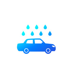 Car wash icon on white sign vector