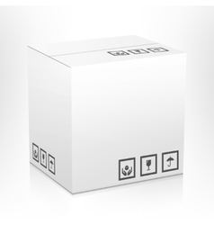 Carton box isolated vector image