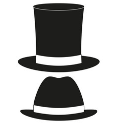 Cartoon icon poster man father dad day tall hat vector