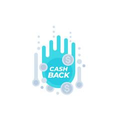 cashback offer sticker vector image