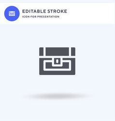chest icon filled flat sign solid vector image