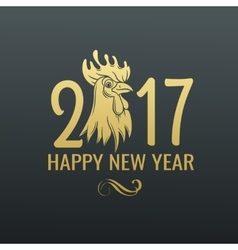 chinese symbol rooster 2017 vector image