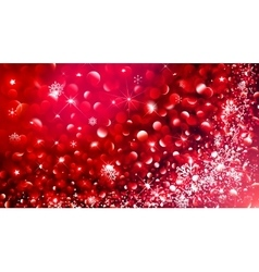 Christmas Bokeh effect vector image