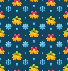 Christmas seamless texture with jingle bells and vector