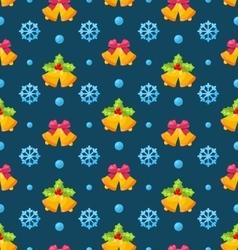 christmas seamless texture with jingle bells vector image