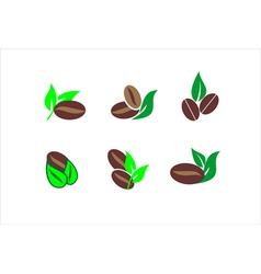 Coffee beans icons vector image
