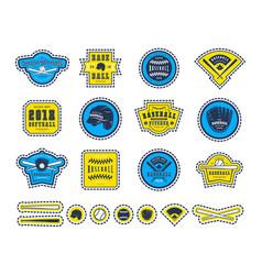 emblems and badges set baseball team vector image