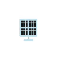 Flat solar panel element of vector