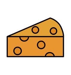 fresh slice cheese vector image