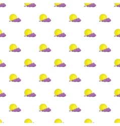 Full moon and cloud pattern cartoon style vector