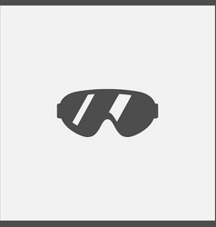 glasses symbol flat icon for web in trendy flat vector image