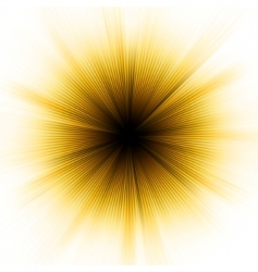 golden explosion of light vector image