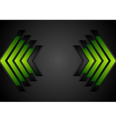 Green arrows geometry corporate background vector