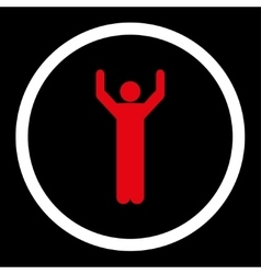Hands up icon vector