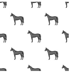 horseanimals single icon in monochrome style vector image